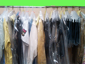 clothes from dry cleaner